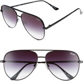 Thumbnail for your product : Quay High Key 62mm Oversize Aviator Sunglasses