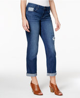 Style&Co. Style & Co Petite Curvy Patchwork Boyfriend Jeans, Created for Macy's