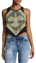 Free People Moss Dawn Cropped Cotton Tank Top