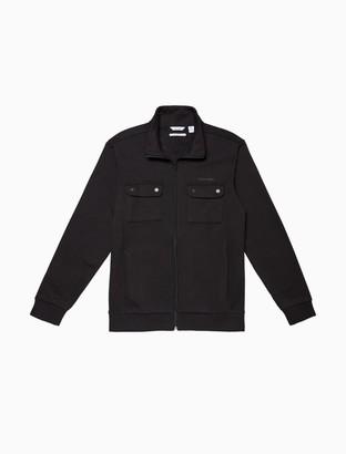 Calvin Klein Solid Fleece Full Zip Sweatshirt