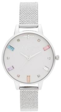 Olivia Burton Women's Rainbow Bee Stainless Steel Mesh Bracelet Watch 34mm