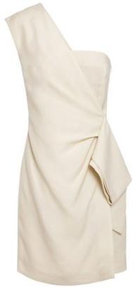 Victoria Victoria Beckham One-shoulder Draped Slub Mini Dress