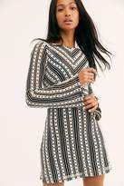 Free People Chiara Crochet Mini Dress by Free People, Black And White Combo, US 0