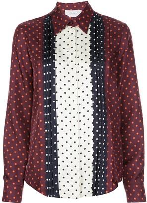 Gabriela Hearst polka-dot long sleeve blouse