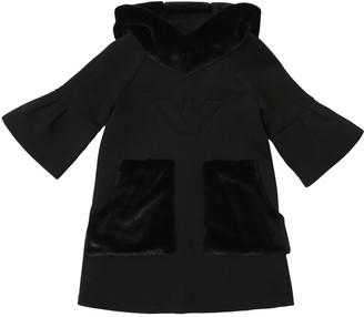 Emporio Armani Cotton Interlock W/ Faux Fur Dress