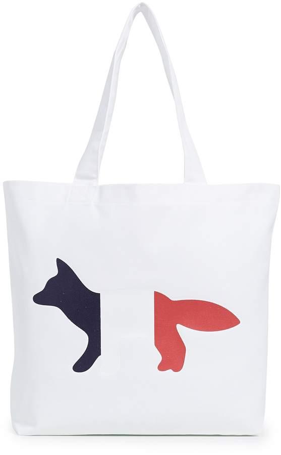 MAISON KITSUNÉ Tricolor Fox Tote Bag