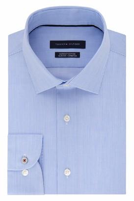 Tommy Hilfiger Men's Dress Shirt Slim Fit Non Iron Stretch Stripe