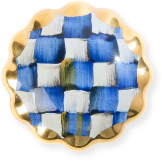 Mackenzie Childs Royal Check Round Majolica Decorative Knob