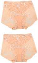 uxcell Women Sheer Lace Stretchy Plus Size Mid-Rise Brief Underwear 2 Pack XX-Large