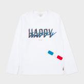 Paul Smith Boys' 2-6 Years White 3D Happy Print 'Mingo' Top