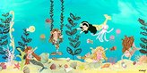 Oopsy Daisy Fine Art For Kids Mermaid Play Day Stretched Canvas Wall Art by The Winborg Sisters, 36 by 18-Inch