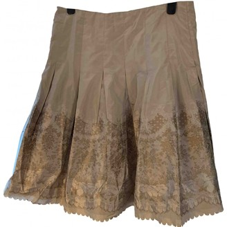 Alexander McQueen Beige Silk Skirt for Women