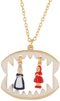 Les Nereides N2 by INTO THE WOODS LITLLE RED RIDING HOOD AND THE GRANDMOTHER IN THE WOLF'S MAW NECKLACE - Red