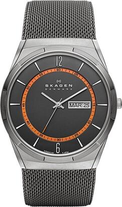 Skagen Men's Aktiv Titanium Analog-Quartz Watch with Stainless-Steel Strap