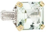 Judith Ripka Prasiolite & Diamond Montana Cocktail Ring