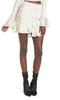 J.o.a. Women's Ruffle Pinstripe Skirt