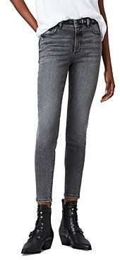 AllSaints Miller Cropped Skinny Jeans in Vintage Black