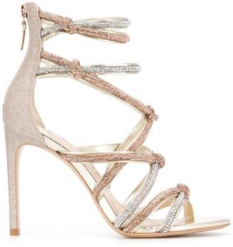 Sophia Webster Champagne Glitter Sandals