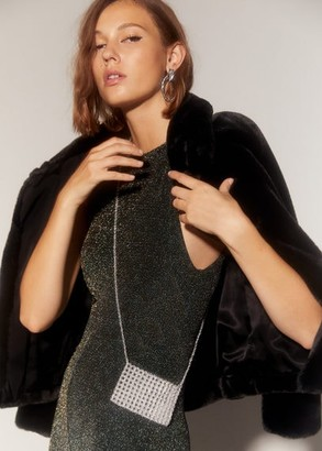 MANGO Beaded mini bag ochre - One size - Women