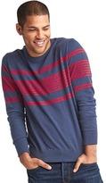 Gap Chest-stripe crew sweater