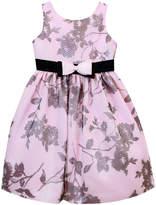 Jayne Copeland Pink & Black Floral Babydoll Dress - Toddler & Girls