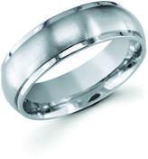 Boston Bay Diamonds 7MM Comfort Fit Titanium Ring Wedding Band with Raised Brushed Metal Center
