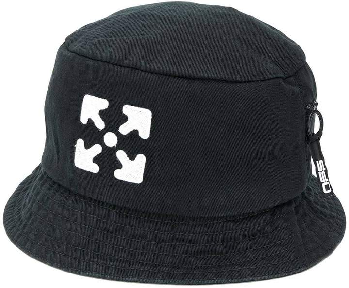 Off-White Off White black and white arrows bucket hat