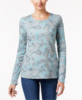 Charter Club Paisley-Print Top, Only at Macy's