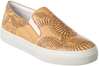 Tod's Tattoo Leather Slip-On Sneaker