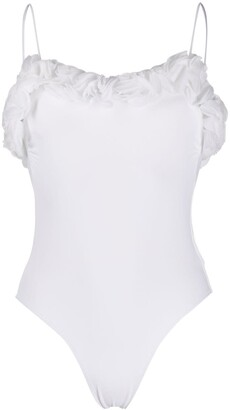 La Reveche Ruffle Trimmed One Piece