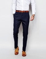 Asos Slim Suit Trousers - Navy