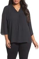 Sejour Plus Size Women's V-Neck Blouse