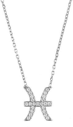 Latelita Zodiac Star Sign Pendant Necklace Silver Pisces