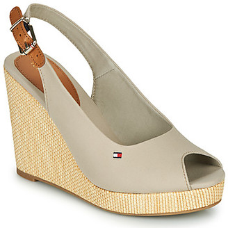 Tommy Hilfiger ICONIC ELENA SLING BACK WEDGE women's Sandals in Grey