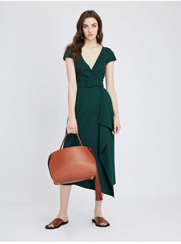 Oscar de la Renta Stretch-Wool Crepe Pencil Dress
