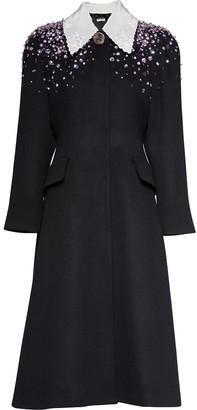 Miu Miu embellished A-line coat