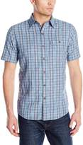 G.H. Bass Men's Short Sleeve Spacedye Medium Plaid Madawaska Shirt