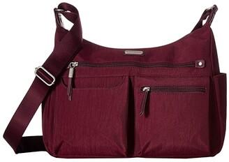 Baggallini New Classic Heritage Anywhere Large Hobo with RFID Phone Wristlet (Black) Hobo Handbags
