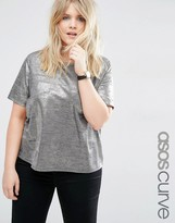 Asos T-Shirt in Gold Metallic