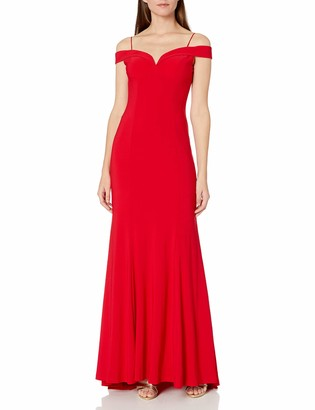 Adrianna Papell Women's Jersey Off The Shoulder Gown