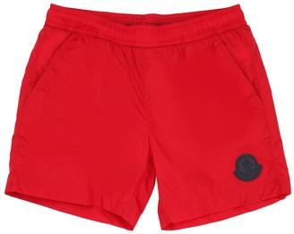 Moncler Nylon Swim Shorts W/ Logo Patch