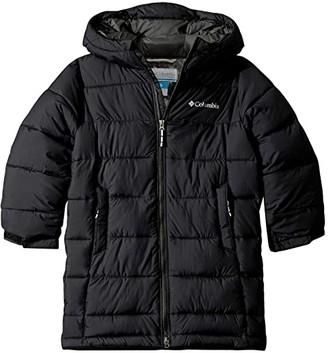 Columbia Kids Pike Laketm Long Jacket (Little Kids/Big Kids) (Black/Grill) Girl's Coat