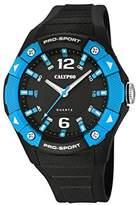 Calypso Men's Quartz Watch with Black Dial Analogue Display and Black Plastic Strap K5676/6