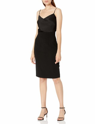 Black Halo Women's Slip Style top with Pencil Skirt