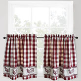 B. Smith Park Park Provencial Rooster Rod-Pocket Window Tiers