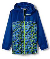 Lands' End Boys Navigator Rain Jacket-Indigo Dot