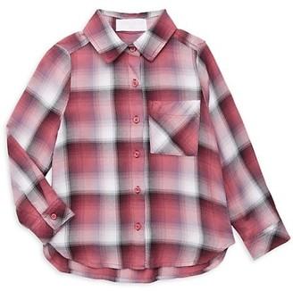 Bella Dahl Little Girl's & Girl's Plaid Pocket Shirt