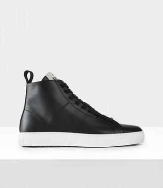 Vivienne Westwood Unisex Tennis High Top Sneakers Black