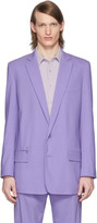 Tibi SSENSE Exclusive Purple Eamon Long Blazer