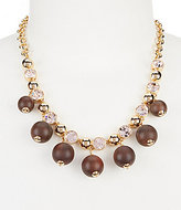 Kate Spade Second Nature Wood-Bead Collar Necklace